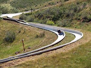 English: The Alpine Slide on Jackson Hill.