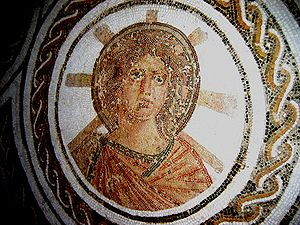 Solar Apollo with the radiant halo of Helios i...
