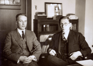 English: C. H. Best and F. G. Banting ca. 1924