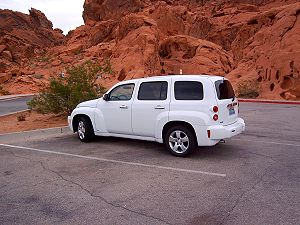 Chevy HHR in the Valley of Fire, Nevada