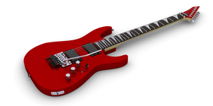 English: Electric Guitar based on ESP KH model.