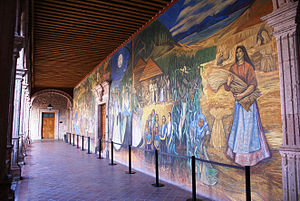 Español: Fragmento de pintura mural Titulo del...