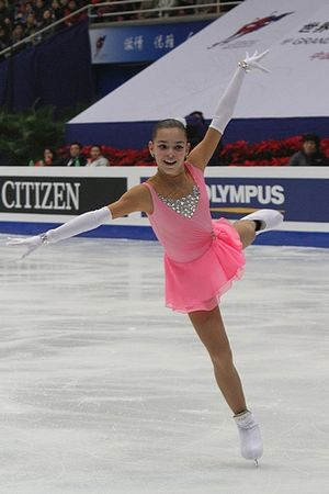 Adelina Sotnikova at the 2010-2011 ISU Junior ...