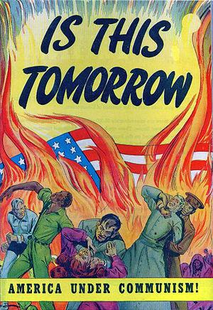 "Cover to the propaganda comic book ""Is Th..."