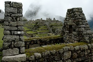 Residential section of the Machu Picchu, Peru.