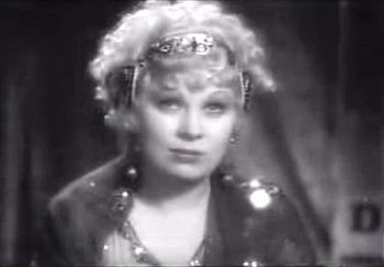 Cropped screenshot of Mae West from the traile...