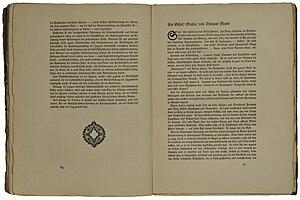 Thomas Mann: Ein Glück. Studie. In: «Die neue ...