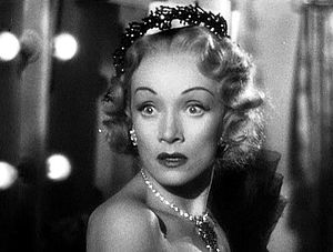 Screenshot of Marlene Dietrich from the traile...