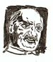 Brush drawing of German philospher Martin Heid...