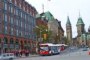 Elgin Street in downtown Ottawa, looking north...