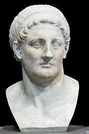 Busto de mármol de Ptolomeo I (siglo III adC) Museo del Louvre, París.