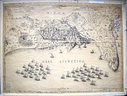 le siege de nice de 1543 par les franco turcs gravure d enea vico