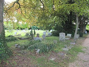 English: The old graveyard View of the old Gra...