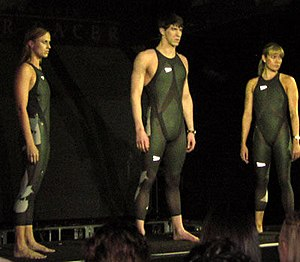 The LZR Racer Suit is unveiled at a press conf...