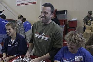 Actor and director Ben Affleck helps Operation...