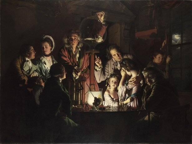 An Experiment on a Bird in an Air Pump by Joseph Wright of Derby, 1768