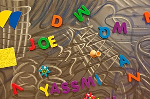 English: A blackboard or chalkboard from the c...