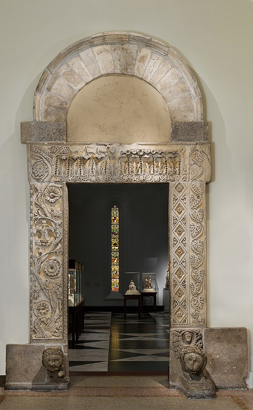 Doorway from the Church of San Nicolò, San Gemini MET DP212404