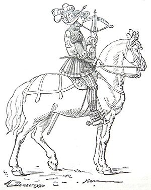 """16th century French mounted crossbowman (""""..."""