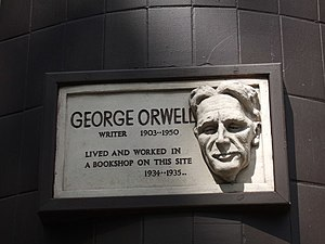 English: George Orwell in Hampstead On the cor...