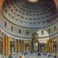 """Interior of the Pantheon, Rome"" by Giovanni Paolo Panini"