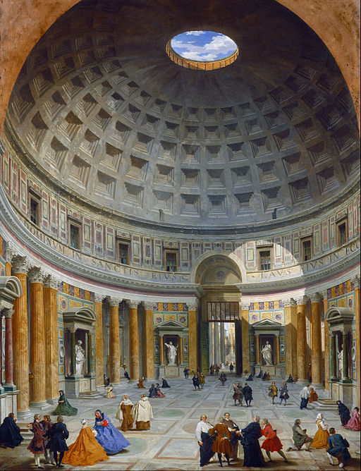 """""""Interior of the Pantheon, Rome"""" by Giovanni Paolo Panini"""