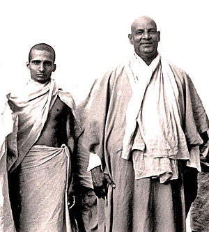 Krishnananda and Sivananda, circa 1945