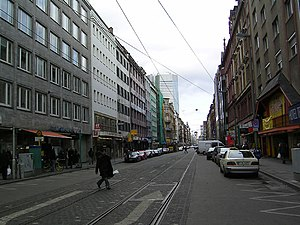 Münchener Straße, a view in the direction of W...