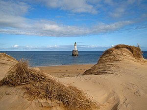 English: Rattray Head Sand dunes overlooking t...