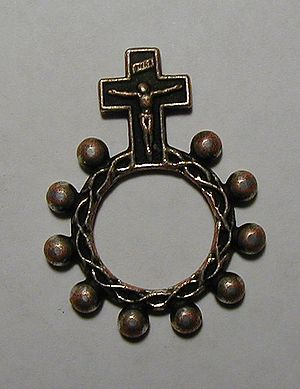 Single-decade ring rosary