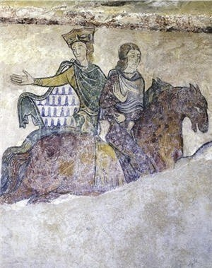 English: A mural which most likely depicts Ele...