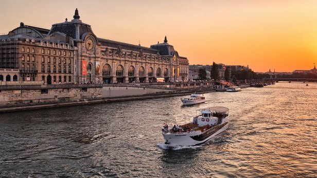 The Musée dOrsay at sunset, Paris July 2013