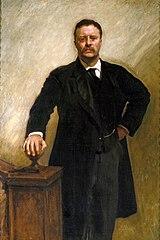 US President Teddy Roosevelt's Official Portrait