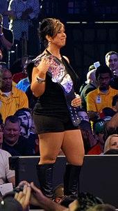 Guerrero Holding The Divas Championship Belt At Wrestlemania Xxx In 2014