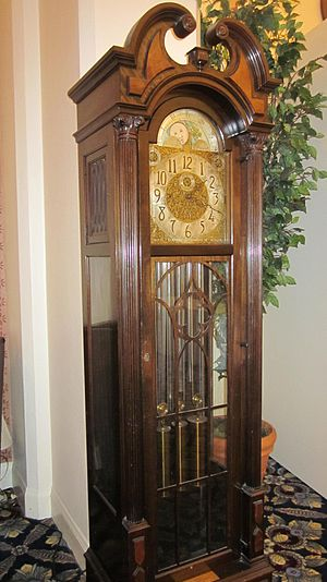 A W & H Sch grandfather clock at the Marines' ...