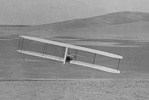 1902 Wright glider turns