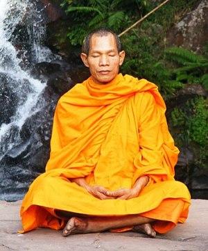 Buddhist monk in Phu Soidao Nationalpark, Phu ...