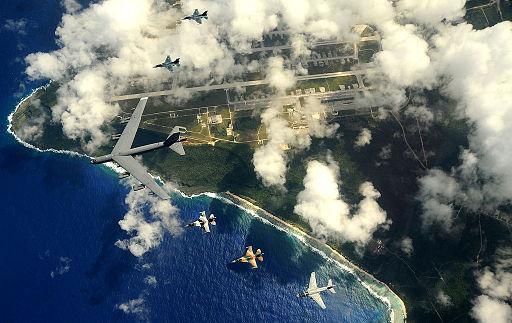 B-52 over Guam