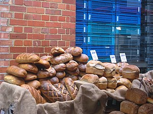 Bread on sale in Borough Market, London.