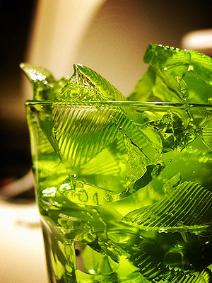 Photo of green gelatin