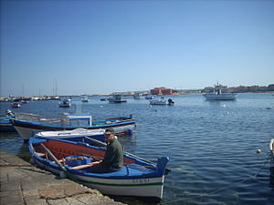 English: fisherman in Marzamemi, sicily