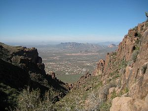 View from Flat Iron Peak, Superstition mountia...
