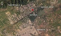 Location of Lal Masjid (Red Mosque) in Islamab...