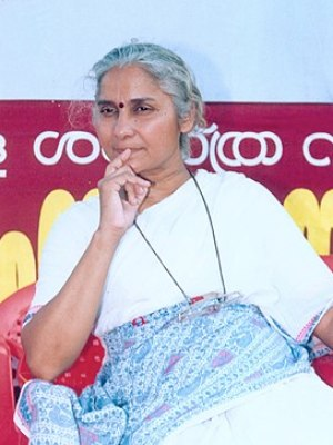 English: Medha Patkar in Sasthamkotta