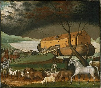 Noah's Ark, oil on canvas painting by Edward H...