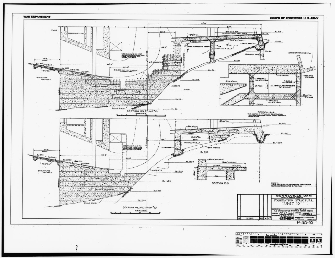 File Photocopy Of Original Construction Drawing Dated 12