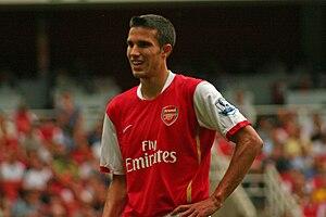 Robin van Persie of Arsenal against Fulham in ...