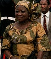 Mugabe's first wife, First Lady Sally Hayfron, in 1983