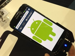 Samsung Phone with Android Robot icon