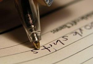 2004-02-29 Ball point pen writing